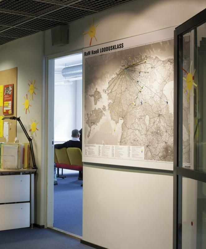 Estonian map in Rocca al Mare school. Photo: Toomas Tuul