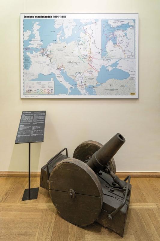 World War I map at Estonian war Museum. Photo: Toomas Tuul