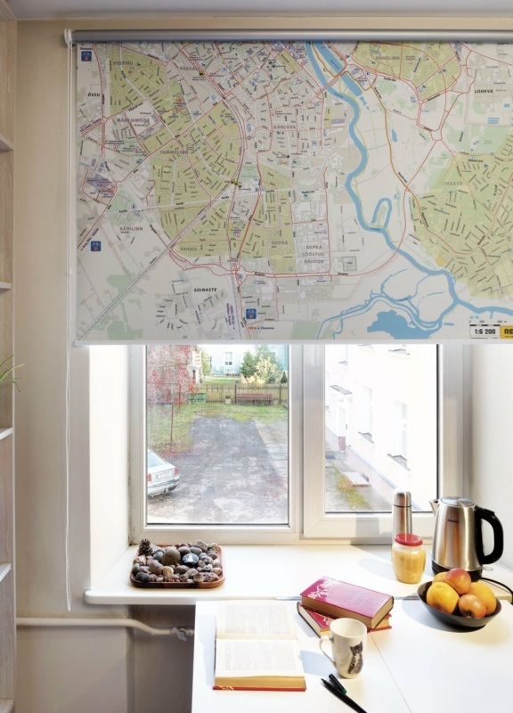 Tartu cycling map on blind. Photo: Toomas Tuul