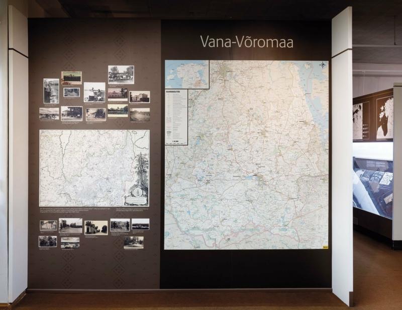 Maps at Vana-Võromaa Museum. Photo: Toomas Tuul